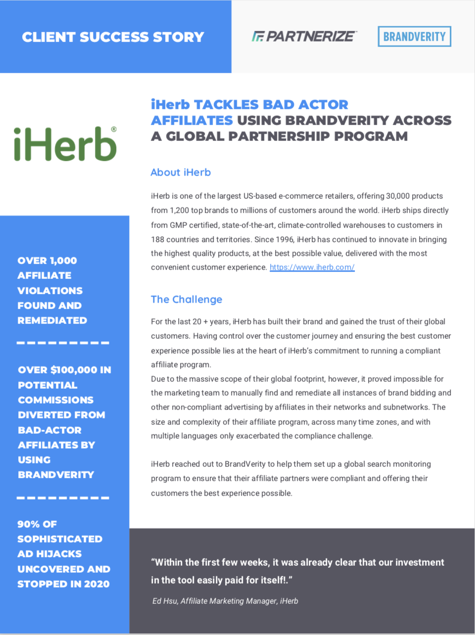 iHerb Case Study Cover